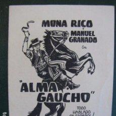 Cine: ALMA DE GAUCHO. Lote 104035059