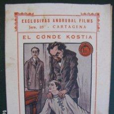 Cine: EL CONDE KOSTIA. CINE SOVIÉTICO. 1.925. Lote 104035795