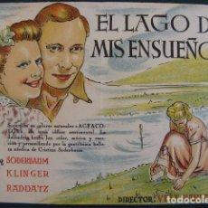Cine: EL LAGO DE MIS ENSUEÑOS. CARTÓN DURO. Lote 104036511