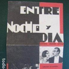 Cine: ENTRE NOCHE Y DIA. Lote 104040139