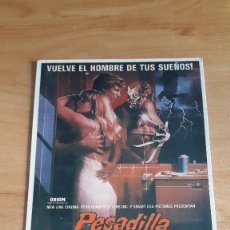 Cine: FOLLETO DE MANO - PESADILLA EN ELM STREET 2 - LA VENGANZA DE FREDDY - FREDDY KRUEGER. Lote 104048119