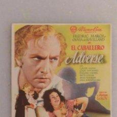 Cine: FOLLETO MANO CINE EL CABALLERO ADVERSE. Lote 104060915
