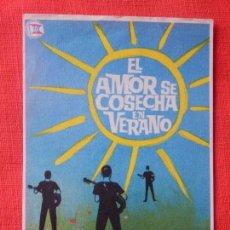 Cine: EL AMOR SE COSECHA EN VERANO, SENCILLO ORIGINAL EXCTE. ESTADO, V. PUCHOLT I. PAVLOVA, SIN PUBLI. Lote 104063027