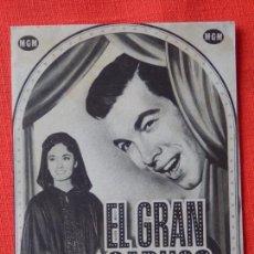 Cine: EL GRAN CARUSO, IMPECABLE DOBLE, MARIO LANZA, ANN BLYHT, DOBLE, CON PUBLI MONTERROSA 1953. Lote 104063687