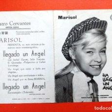 Cine - HA LLEGADO UN ANGEL ,PROGRAMA DOBLE CANCIONERO SUEVIA CINE ESPAÑOL MARISOL.TEATRO CERVANTES - 104065291