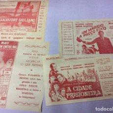 Cine: LOTE CON 10 FOLLETOS DE MANO DIVERSOS, PARA SALAS DE CINEMA DE ESPINHO ( PORTUGAL ), AÑOS 60. Lote 104066915