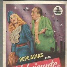 Foglietti di film di film antichi di cinema: PEPE ARIAS PROGRAMA DE MANO DEL FILM EL FABRICANTE DE ESTRELLAS CON PUBLICIDAD AL DORSO. Lote 104104607
