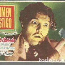 Cine: ROBERTO CAÑEDO PROGRAMA DE MANO DEL FILM CRIMEN Y CASTIGO SIN PUBLICIDAD AL DORSO. Lote 104104687