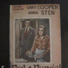 Cine: NOCHE NUPCIAL - DOBLE - GARY COOPER - CINE URQUINAONA - (C-4048). Lote 104180687