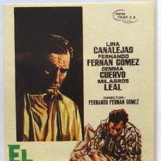 Cine: EL MUNDO SIGUE, CON LINA CANILLEJAS, FERNANDO F. GOMEZ, GEMMA CUERVO, MILAGROS LEAL . Lote 104287107