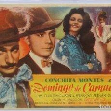 Cine: DOMINGO DE CARNAVAL, CON CONCHITA MONTES, F. FERNAN GOMEZ, DIRECTOR EDGAR NEVILLE . Lote 104287451
