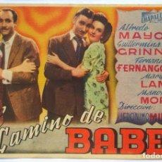 Cine: EL CAMINO DE BABEL, CON GUILLERMINA GRINN, ALFREDO MAYO, MARY LAMAR . Lote 104287567