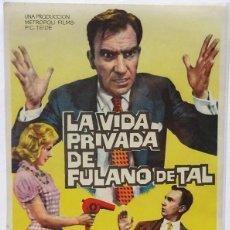 Cine: LA VIDA PRIVADA DE FULANO QUE TAL, CON SUSANA CAMPOS, F. F. GOMEZ, DIRECTOR JOSE Mª FORN . Lote 104288055