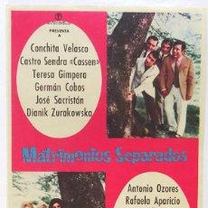 Cine: MATRIMONIOS SEPARADOS, CON CONCHITA VELASCO, TERESA GIMPERA, GERMAN COBOS . Lote 104288267