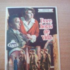 Cine: DOCE HORAS DE VIDA. Lote 104291979