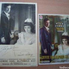 Cine: DONDE VAS ALFONSO XII. Lote 104292422