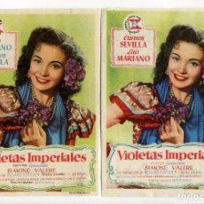 Cine: VIOLETAS IMPERIALES, CON CARMEN SEVILLA. C/I.. Lote 104303963