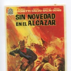 Cine: SIN NOVEDAD EN EL ALCÁZAR, CON RAFAEL CALVO. S/I.. Lote 104373727