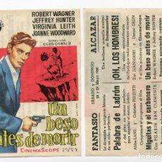 Cine: UN BESO ANTES DE MORIR, CON ROBERT WAGNER. C/I.. Lote 277296633