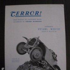 Cine: TERROR ! - PERLA BLANCA - PRODUCCIONES FORDYS- EXCLUSIVAS GURT -VARIAS HOJAS -VER FOTOS- (C- 4059). Lote 104395599