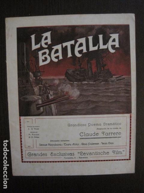 LA BATALLA -SESSUE HAYAKAVA- EXCLUSIVAS LEVANTISCHE FILM -VARIAS HOJAS -VER FOTOS- (C- 4058) (Cine - Folletos de Mano - Aventura)