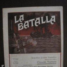 Cine: LA BATALLA -SESSUE HAYAKAVA- EXCLUSIVAS LEVANTISCHE FILM -VARIAS HOJAS -VER FOTOS- (C- 4058). Lote 104395875