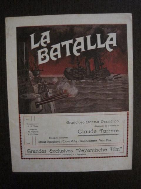 Cine: LA BATALLA -SESSUE HAYAKAVA- EXCLUSIVAS LEVANTISCHE FILM -VARIAS HOJAS -VER FOTOS- (C- 4058) - Foto 2 - 104395875