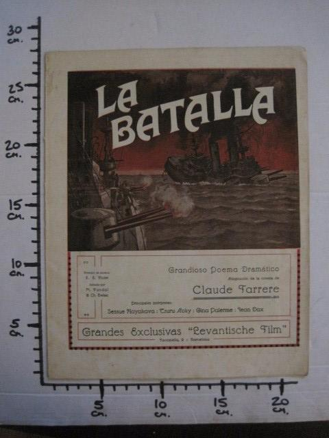 Cine: LA BATALLA -SESSUE HAYAKAVA- EXCLUSIVAS LEVANTISCHE FILM -VARIAS HOJAS -VER FOTOS- (C- 4058) - Foto 10 - 104395875