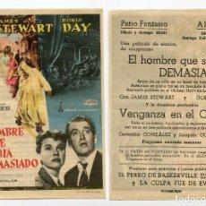 Cine: EL HOMBRE QUE SABÍA DEMASIADO, CON JAMES STEWARD. C/I.. Lote 163009501