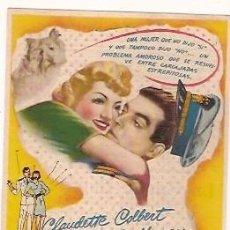 Cine: PROGRAMA CINE BODAS BLANCAS CLAUDETTE COLBERT FRED MAC MURRAY TEATRO PRINCIPAL 1946. Lote 104445911