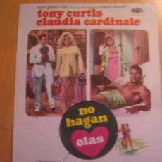 Cine: NO HAGAN OLAS CLAUDIA CARDINALE TONY CURTIS SHARON TATE FOLLETO DE MANO ORIGINAL PERFECTO ESTADO. Lote 104454847