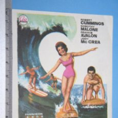 Cine: ESCANDALO EN LA PLAYA (WILLIAM ASHER) *** ANTIGUO FOLLETO DE CINE MUSICAL *** AÑO 1963. Lote 104490699