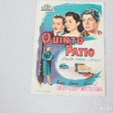 Cine: QUINTO PATIO. EMILIO TUERÓ, EMILIA GUIU Y CARLOS L. MOCTEZUMA. INFORMACIÓN Y FOTOS.. Lote 104502803