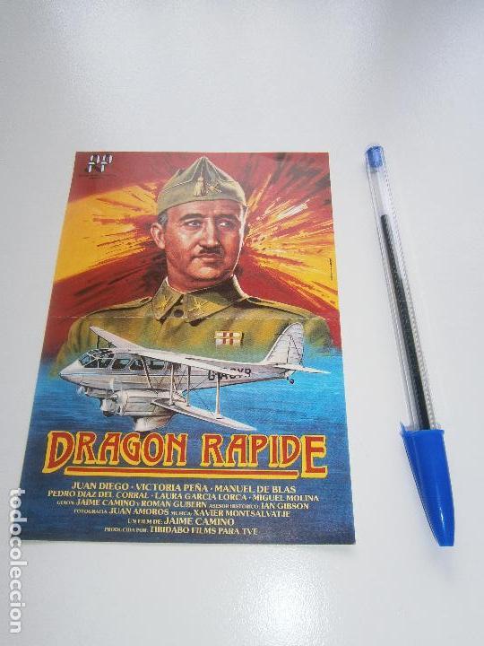 DRAGON RAPIDE - FOLLETO DE MANO DEL ESTRENO DE LA PELÍCULA - CÁDIZ - JUAN DIEGO - FRANCO (Cine - Folletos de Mano - Bélicas)