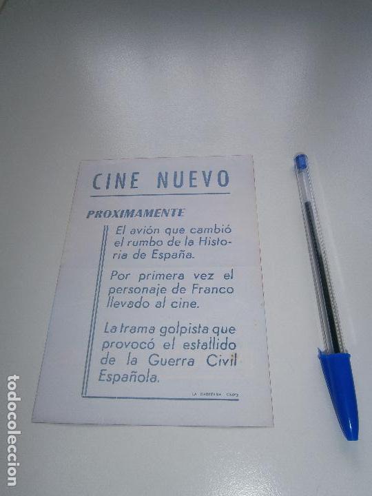 Cine: Dragon Rapide - Folleto de mano del estreno de la película - Cádiz - Juan Diego - Franco - Foto 2 - 104547679