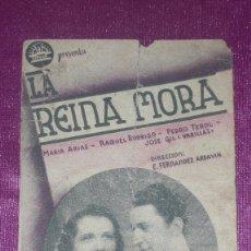 Cine: PROGRAMA DE CINE SIMPLE LA REINA MORA MARÍA ARIAS, PEDRO TEROL CIFESA - AÑO 1939 LA VERGAL IMPR. Lote 104571863