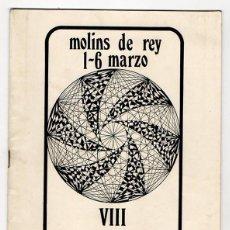 Cine: MOLINS DE REY. VIII SEMANA DEL CINE ESPAÑOL 1970. ARANDA. ARDAVIN. GONZALO SUAREZ. MASATS. BARCELONA. Lote 104601227