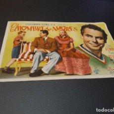 Cine: PROGRAMA DE MANO ORIGINAL - EL HOMBRE DE MIS AMORES- ( CON PUBLICIDAD CINE DE VITORIA ) . Lote 104641587