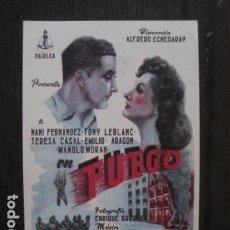 Cine: FUEGO - PROGRAMA CINE -VER FOTOS- (C-4076). Lote 104645119