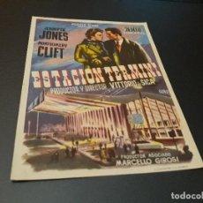 Cine: PROGRAMA DE MANO ORIGINAL - ESTACIÓN TERMINI - ( CON PUBLICIDAD CINE DE VITORIA 1954 ) . Lote 104647835