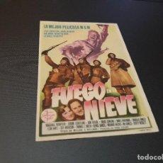 Cine: PROGRAMA DE MANO ORIGINAL - FUEGO EN LA NIEVE - ( CON PUBLICIDAD CINE DE VITORIA 1950) . Lote 104648399