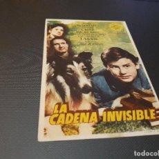 Cine: PROGRAMA DE MANO ORIGINAL - LA CADENA INVISIBLE - ( CON PUBLICIDAD CINE DE VITORIA 1948) . Lote 104649967