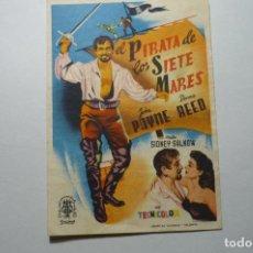 Cine: PROGRAMA EL PIRATA DE LOS SIETE MARES - JOHN PAYNE PUBLICIDAD. Lote 104730555