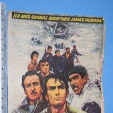 Cine: LOS CAÑONES DE NAVARONE (GREGORY PECK) *** ANTIGUO FOLLETO CINE BELICO *** AÑO 1961. Lote 104853951
