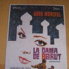 Flyers Publicitaires de films Anciens: LA DAMA DE BEIRUT SARA MONTIEL LADISLAO VAJDA FOLLETO DE MANO ORIGINAL PERFECTO ESTADO . Lote 104954495