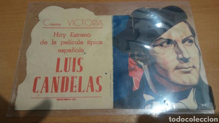 Cine: Programa de cine troquelado Luis Candelas con publicidad Cine Vitoria jaen - Foto 2 - 86995551