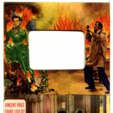 Cine: LOS CRIMENES DEL MUSEO DE CERA 1953 (FOLLETO DE MANO ORIGINAL) CINE SAN ROQUE LAS PALMAS DE G.C.. Lote 105085503