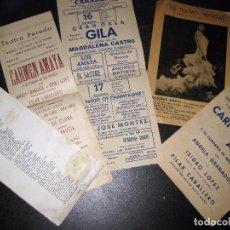 Cine: LOTE 5 PROGRAMA PEQUEÑO CARTEL CARMEN AMAYA AÑOS 60 . Lote 105130439