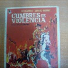 Cine: CUMBRES DE VIOLENCIA. Lote 105315358