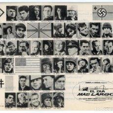 Cine: EL DIA MÁS LARGO 1962 (FOLLETO DE MANO ORIGINAL CON PUBLICIDAD DEL CINE VITORIANA DE ESPECTÁCULOS). Lote 105337283